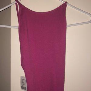 Fuchsia open back midi dress